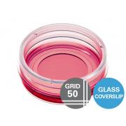 µ-trauks 35 mm, augsta režģa-50 stikla dibens
