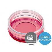 µ-trauks 35 mm, augsts režģis-500 stikla dibens